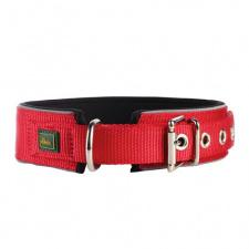 Platus neopreninis šviesą atspindintis antkaklis, raudonos spalvos, L – 49-56 cm, 45 mm pločio