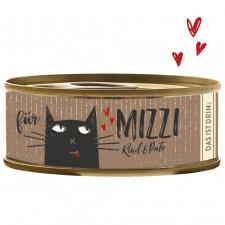 Konservai katėms su jautiena ir kalakutiena (min. 70% mėsos),100g