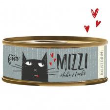 Konservai katėms  su vištiena ir lašiša  (min. 70% mėsos), 100g