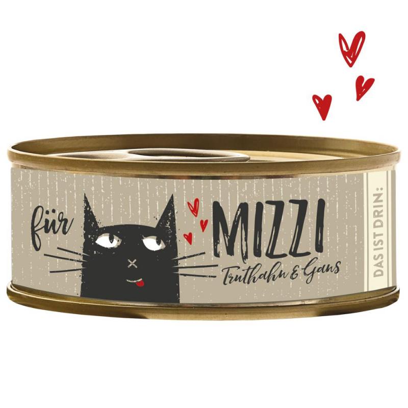 Konservai katėms su kalakutiena ir žąsiena (min. 70% mėsos), 100g
