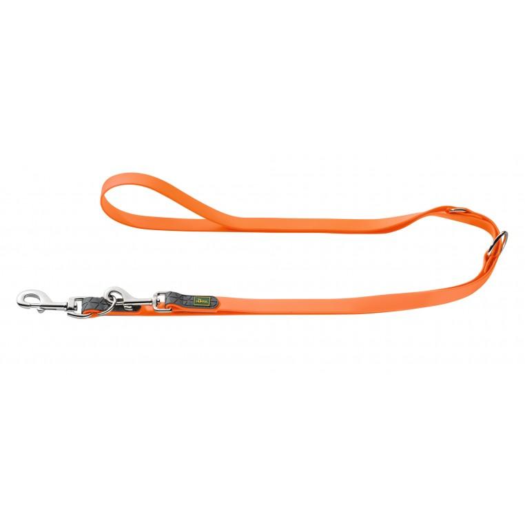 HUNTER Ilgas neperšlampantis pavadėlis, oranžinis, 200 cm