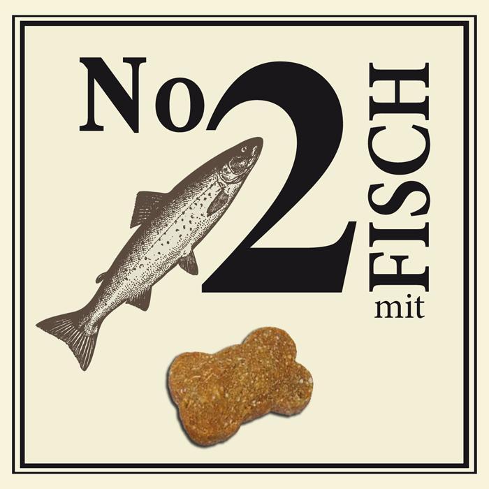 Nr.2 šunų skanėstai  su žuvimi, 210g