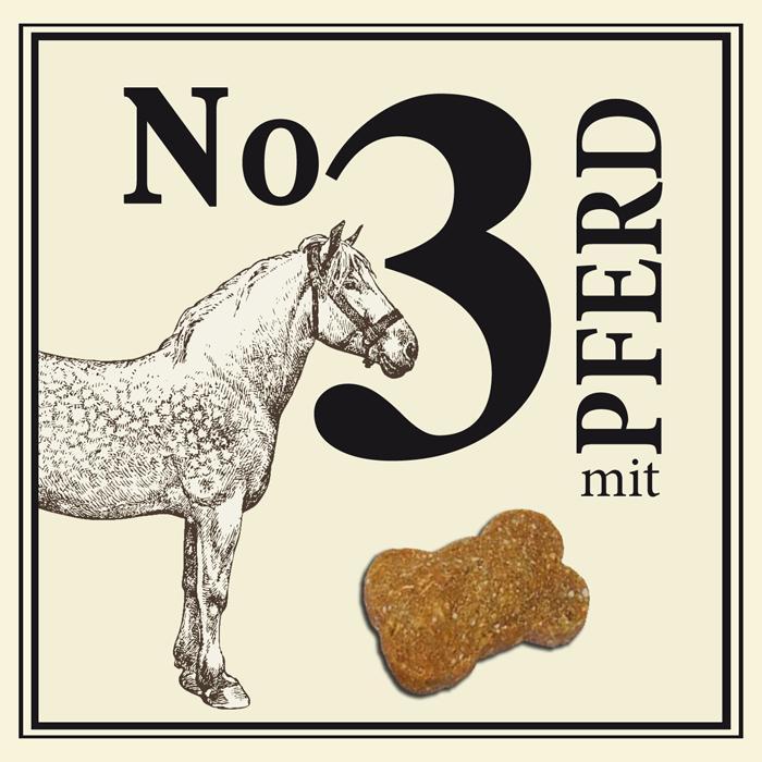 AKCIJA - Nr.3 šunų skanėstai  su arkliena, 210gr