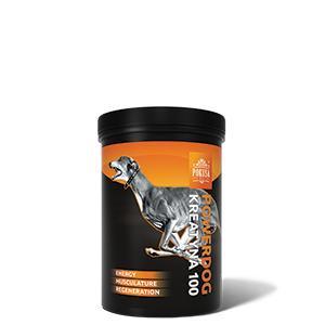 """""""PowerDog Creatine100""""- maisto papildas šunims, palengvinantis sporto ir darbo šunų energijos ir raumenų regeneraciją (300gr)"""