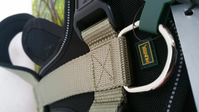 HUNTER petnešos XL, nailonas/neoprenas, Žalios spalvos